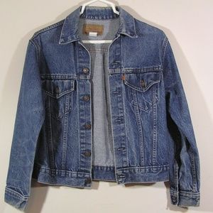 Levi's Vintage Orange Tab Denim Trucker Jacket Med